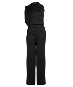 OSMAN | Lorelei One-Shoulder Open-Back Jumpsuit