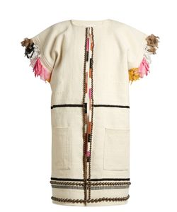 A PIECE APART   Nazca Embellished Cotton And Wool-Blend Coat