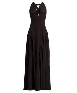 ZEUS + DIONE | Hydrea Cut-Out Silk Crepe De Chine Maxi Dress