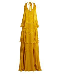 Roberto Cavalli | Ruffled Silk-Chiffon Gown