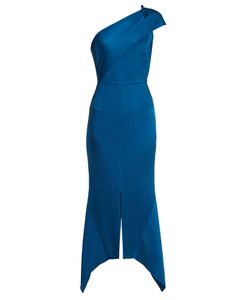 Roland Mouret | Harlow One-Shoulder Hammered Silk Dress