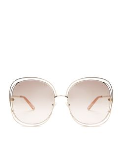 Chloe | Modified Oversized Square-Frame Sunglasses