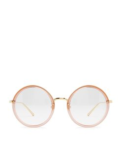 Linda Farrow | -Plated Round-Frame Glasses