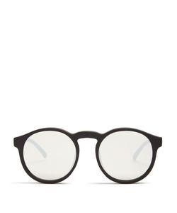 Le Specs | Cubanos Round-Frame Mirro Sunglasses