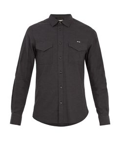 Maison Kitsune | Single-Cuff Flapped-Pocket Twill Shirt