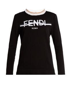 Fendi | Logo-Print Cotton-Blend Performance Top