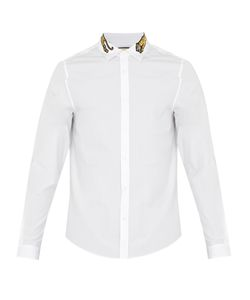 Gucci | Embroidered Tiger Cotton-Poplin Shirt