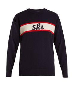 FUSALP | Ski-Intarsia Wool-Blend Performance Sweater