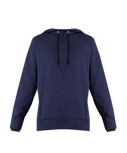 MARTINE ROSE | Embroide Cotton-Jersey Hooded Sweatshirt