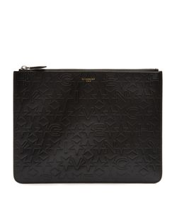 Givenchy | Logo And Star-Debossed Leather Pouch
