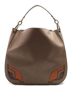 Bottega Veneta | Contrast-Insert Leather Shoulder Bag