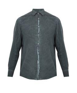 Massimo Alba | Spread-Collar Brushed-Twill Shirt