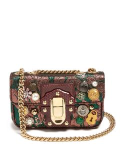 Dolce & Gabbana | Lucia Embellished Jacquard Shoulder Bag