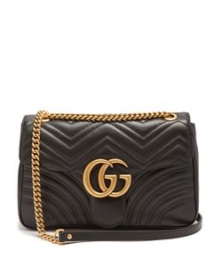 Gucci | Gg Marmont Quilted-Leather Shoulder Bag