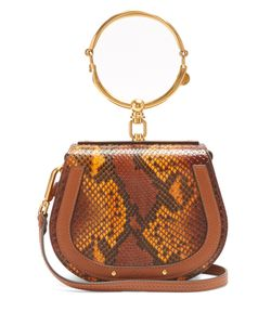 Chloe | Nile Small Python-Effect Cross-Body Bag