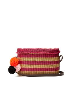 Sophie Anderson | Costello Striped Wicker Shoulder Bag