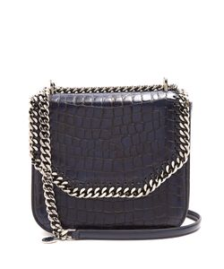 Stella Mccartney | Falabella Box Medium Crocodile-Effect Shoulder Bag