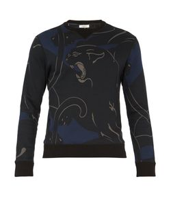 Valentino | Panther-Print Cotton-Blend Sweatshirt