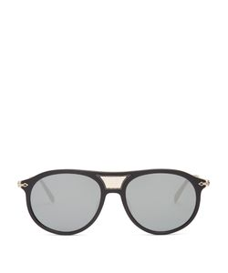Matsuda   Side-Shield Round-Frame Sunglasses