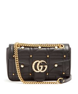 Gucci | Gg Marmont Embellished Quilted-Leather Bag