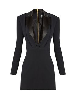 Balmain | Satin-Lapel Mini Tuxedo Dress