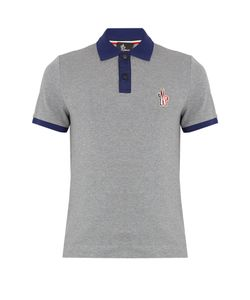 Moncler Grenoble | Contrast-Trim Logo-Appliqué Cotton Polo Shirt