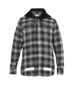 OFF-WHITE | Hooded Checked Cotton-Blend Shirt