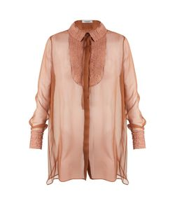 Valentino | Semi-Sheer Silk-Chiffon Blouse