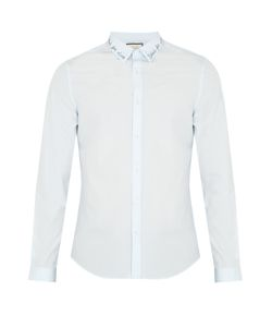 Gucci | Embroidered-Collar Cotton Shirt