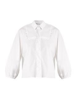 Red Valentino | Bib-Detail Stretch-Cotton Shirt