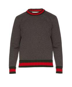 Gucci | Web-Knit And Cotton-Jersey Sweatshirt