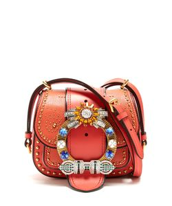 Miu Miu | Dalia Embellished Leather Cross-Body Bag
