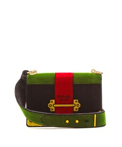 Prada | Cartoon Velvet Cross-Body Bag