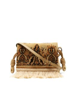 Loewe | Flamenco Flap Tapestry Suede Cross-Body Bag