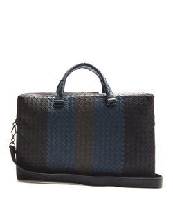 Bottega Veneta | Intrecciato Tri-Colour Leather Briefcase