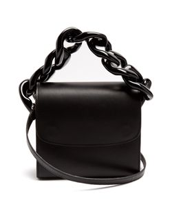 Marques Almeida | Oversized Curb-Chain Leather Shoulder Bag
