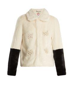 SHRIMPS | Evan Embellished Bi-Colour Faux-Fur Jacket
