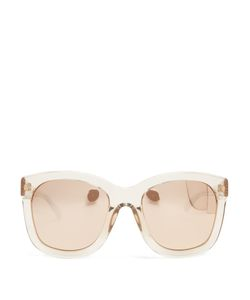 Linda Farrow | Oversized D-Frame Acetate Sunglasses