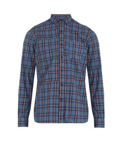 Lanvin | Plaid Single-Cuff Cotton Shirt