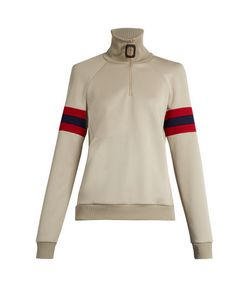 J.W. Anderson | Striped-Sleeve Half-Zip Sweatshirt