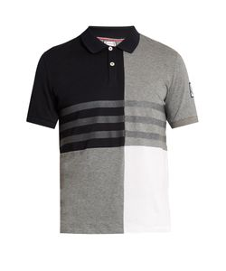 Moncler Gamme Bleu | Contrast-Panel Cotton Polo Shirt