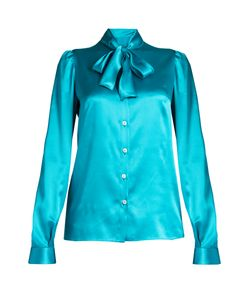 Dolce & Gabbana | Tie-Neck Long-Sleeved Satin Blouse