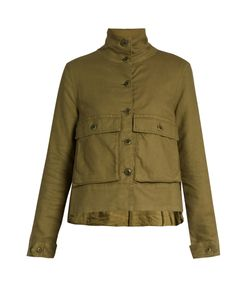 THE GREAT | The Swingy Pocket-Front Army Jacket