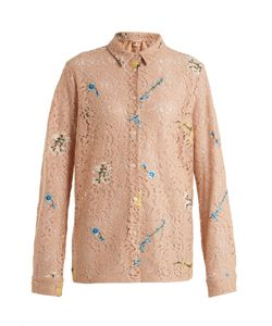 No. 21 | -Embroidered Lace Cotton-Blend Shirt