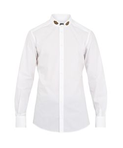 Dolce & Gabbana | Crown-Appliqué Cotton Shirt