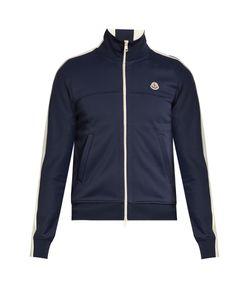 Moncler | Contrast-Panel Zip-Up Jersey Sweatshirt