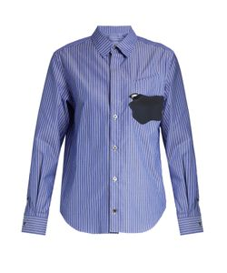 Toga | Abstract-Patch Striped Cotton Shirt