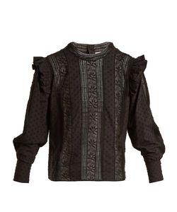 Masscob | Stand-Collar Fil Coupé Cotton Top