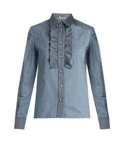 Miu Miu | Pinstriped Cotton-Drill Shirt