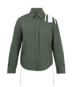 CRAIG GREEN | Stripe-Appliqué Cotton-Poplin Shirt